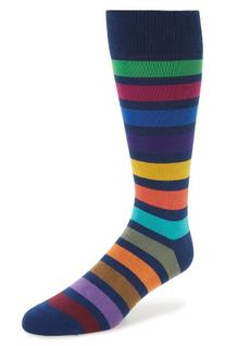 Men's Paul Smith Bright Block Socks, Size One Size - Blue