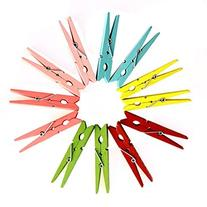 Dazzling Toys 3 Inch Wood Craft Spring Clothespins Assorted