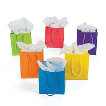 Lot of 24 Small Bright Neon Color Paper Gift Party Bags