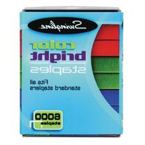 Color Bright Staples, Assorted Colors, Blue, Red, Green,