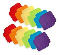Neat Solutions 12 Pack Solid Bright Washcloth Set, Colors