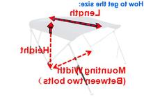 Brightent Bimini Top 6 Different Size 3-4 Bow Boat Canopy