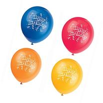 "12"" Latex Brilliant Birthday Balloons, 8ct"