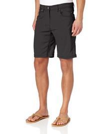 prAna Men's Brion Shorts, 33, Charcoal