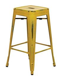 Office Star Bristow Antique Metal Barstool, 26-Inch, Antique