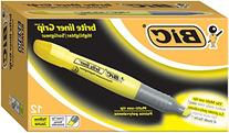 Brite Liner Grip Highlighter, Chisel Tip, Fluorescent Yellow