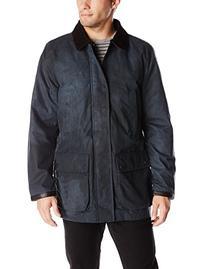 Vince Camuto Men's British Millerton Barn Jacket, Navy Grey