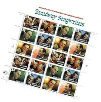 Broadway Songwriters 33 Cent Sheet of 20 Stamps Scott 3350a