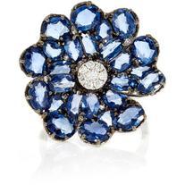 Bronia Blue Flower Ring