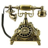 LNC Bronze LNC Retro Vintage Antique Style Rotary Dial Desk