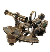 "Surveryor's Small-Sextant 4.25"" Antiqued Nautical"