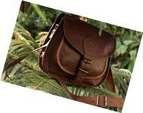 "Hlc 9"" X 7"" Brown ,Genuine Leather Women's Bag /Handbag /"