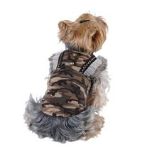 Brown Camo Skirt Dress For Puppy Dog - Extra Small