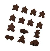 Brown Set of 14 Carcassonne Meeples