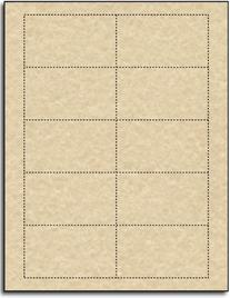 Brown Parchment 65lb Business Cards - 25 Sheets / 250