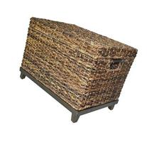 Brown Wicker Storage Trunk / Coffee Table