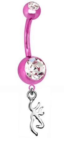 Browning PREMIUM Pink Titanium Anodized Sexy Belly Button