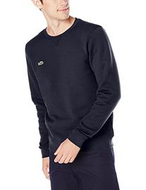 Lacoste Men's Sport Brushed Fleece Crewneck Sweatshirt, Navy