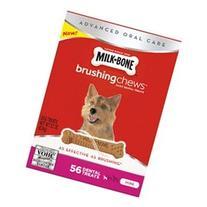 Milk-Bone Brushing Chews Dog Treats, Mini, 22 oz