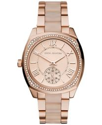 Michael Kors Women's Bryn Blush Acetate and Rose Gold-Tone