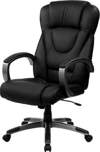 Flash Furniture BT-9069-BK-GG High Back Black Leather