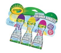 Crayola Outdoor Colored Bubbles-3 Pack Fuchsia Unmellow