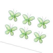 "Butterfly Decor 2"" Green Mini X-Small Glitter Nylon Mesh"