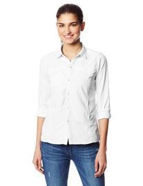 Exofficio Women's Bugsaway Breez'r Long Sleeve, White, Small