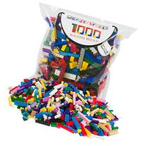 Building Bricks - 1000 Pc Bulk Blocks - Includes 60 Roof