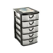 Bulk Buys 5 Drawer Desktop Storage Organizer, Case of 4