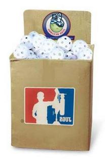 JUGS Bulldog White Poly Baseballs - bulk box of 100