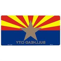 Smart Blonde BULLHEAD CITY Arizona State Flag Vanity Metal