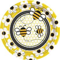 Bumble Bee Dinner Plates, 8ct