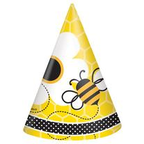 Bumble Bee Party Hats, 8ct