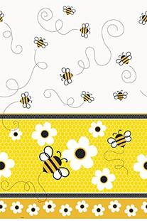 "Bumble Bee Plastic Tablecloth, 84"" x 54"