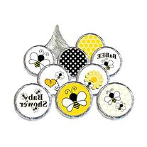 Bumble Bee Baby Shower Favor Stickers, 324 Count