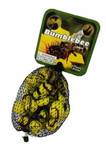Bumblebee Game Net Set 25 Piece Glass Mega Marbles Toy