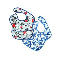 Bumkins Disney Baby Waterproof SuperBib 2 Pack, Mickey Mouse