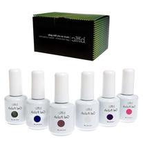 BMC 6pc Set UV/LED Gel Lacquer Nail Art Polish Manicure