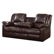 Burgas Reclining Sofa with Drop-Down Cup Holder