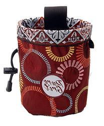 Pure Grit Burgundy Wheels 2 Chalk Bag  with Belt