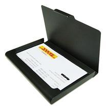 Business Name Card Holder Aluminum Case - Dark Grey