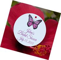 Set of 10 Butterfly Party Favor Tags - Bridal Shower,