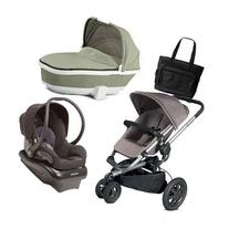 Quinny Buzz Xtra Travel System with Grey Bassinet and a Bag
