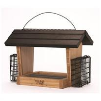 Natures Way BWF19 Bamboo Hopper Feeder With Suet Cages