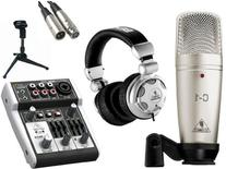 Behringer C-1 Microphone with USB Mixer & Accessories, All