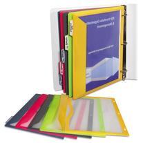 C-Line 5-Tab Binder Pockets with Write-On Index Tabs,
