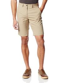 Haggar Men's C18 Flat Front Non Solid Short, British Khaki,