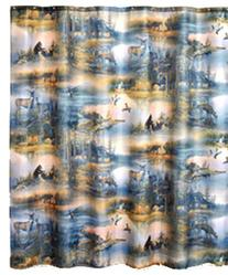 Cabin Retreat Polyester Shower Curtain