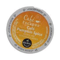 Cafe Escapes Cafe Pumpkin Spice Keurig K-Cups Coffee, 16